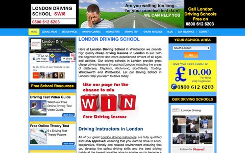 Screenshot of Home Page london-driving-school.co.uk - London Driving School - 1st Instructor Lesson £9.99 - captured March 1, 2016
