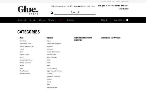 Screenshot of Site Map Page gluestore.com.au - Site Map - Glue Store - captured May 21, 2017
