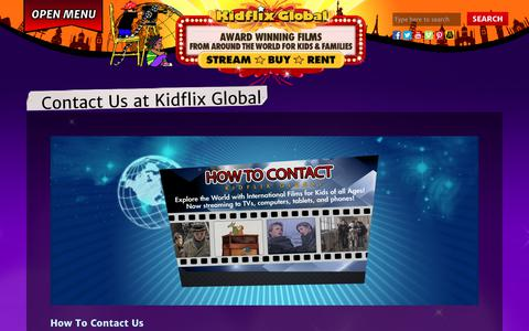 Screenshot of Contact Page kidflixglobal.com - Contact Us at Kidflix Global - Kidflix Global : Kidflix Global - captured Dec. 10, 2018