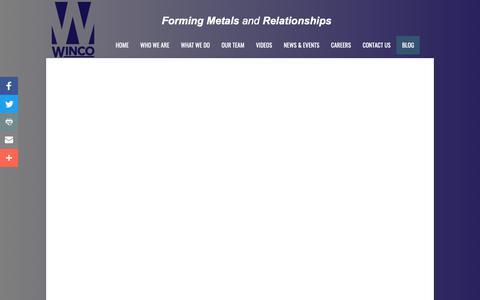 Screenshot of Blog wincostamping.com - Blog - captured Oct. 20, 2018