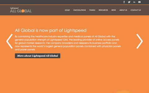 Screenshot of Contact Page allglobal.com - Homepage - Lightspeed AG - captured Oct. 29, 2014