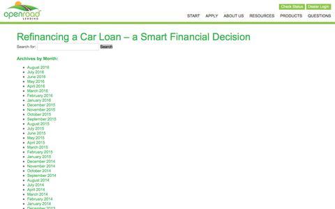 Screenshot of openroadlending.com - February 2015 - OpenRoad Lending - captured Aug. 20, 2016