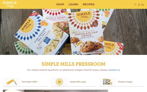 Screenshot of Press Page simplemills.com - SimpleMills - Press Room - captured Oct. 25, 2019