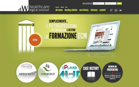 Screenshot of Home Page differentweb.it - Different Web - Healthcare Digital Solution - captured Feb. 9, 2016