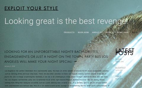 Screenshot of Blog salononmainla.com - Blog — Exploit your style - captured Oct. 2, 2018