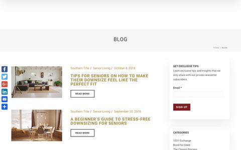 Screenshot of Blog southerntitleonline.com - New Orleans, Louisiana Real Estate News | Southern Title - captured Nov. 16, 2018