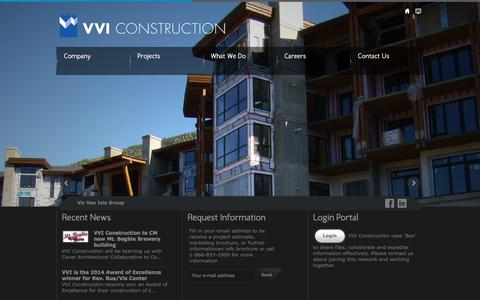 """Screenshot of Home Page vviconstruction.com - VVI Construction 
