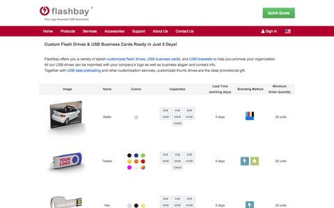 Screenshot of Products Page flashbay.com - Promotional USB Flash Drives | USB Flash Cards in bulk quantity - Flashbay.com - captured Aug. 4, 2016