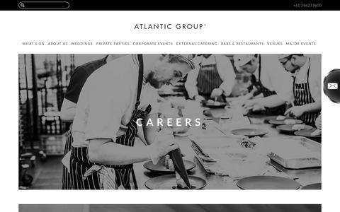 Screenshot of Jobs Page atlanticgroup.com.au - CAREERS - captured Oct. 9, 2017
