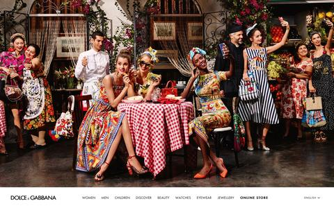 Screenshot of Home Page dolcegabbana.com - Dolce&Gabbana Official Site and Online Store: Summer 2016 Collections - captured Jan. 13, 2016