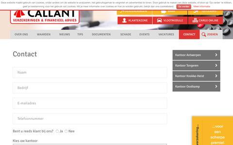 Screenshot of Contact Page callant.be - Contact - Callant Verzekeringen & Financieel Advies : Callant Verzekeringen & Financieel Advies - captured Oct. 16, 2016