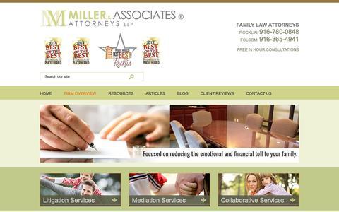 Screenshot of About Page miller-attorneys.com - About | Miller & Associates, Attorneys LLP | Rocklin, California - captured Oct. 19, 2018