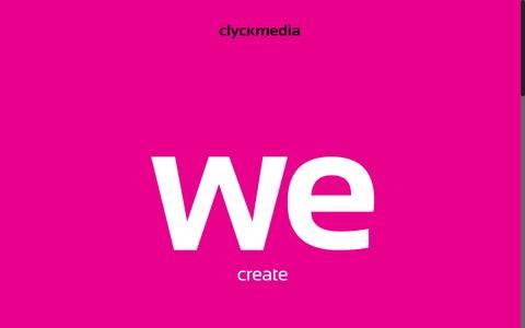 Screenshot of Home Page clyckmedia.com - clyckmedia - Web & Social Media ninjasclyckmedia - captured Oct. 2, 2015