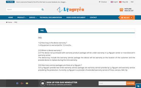 Screenshot of FAQ Page lynguyen.com.vn - FAQ - Ly Nguyen Investment And Development JSC - captured Sept. 26, 2018