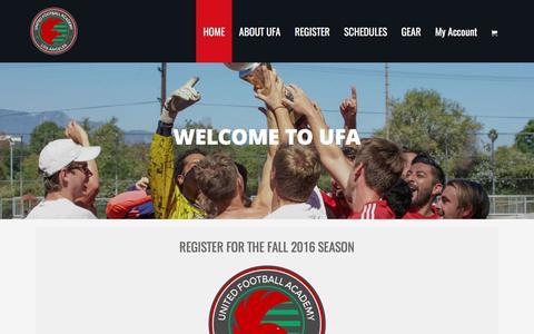 Screenshot of Home Page unitedfootballacademy.org - United Football Academy - captured June 11, 2017