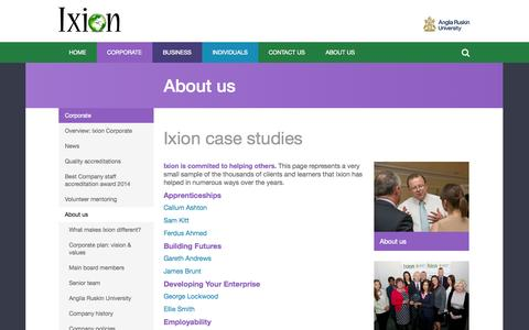 Screenshot of Case Studies Page ixionholdings.com - Case Studies - Ixion Holdings - captured Oct. 6, 2014