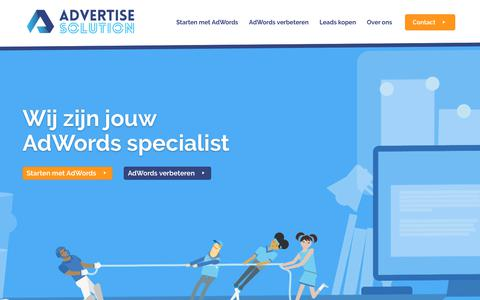 Screenshot of Home Page advertise-solution.nl - Advertise Solution - Specialist in AdWords - captured July 28, 2018