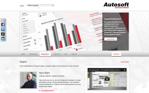 Screenshot of Support Page autosoft.eu - Onze support medewerkers   Autosoft - captured Sept. 19, 2014