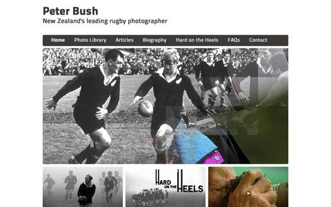 Screenshot of Home Page peterbush.co.nz - Peter Bush – New Zealand's leading rugby photographer - captured Oct. 8, 2015