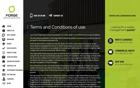 Screenshot of Terms Page forgerecycling.co.uk - Forge Recycling - Terms and conditions - captured Oct. 14, 2017