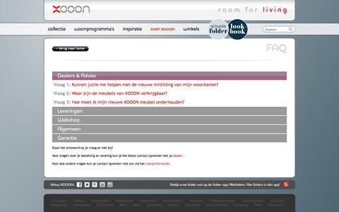 Screenshot of FAQ Page xooon.nl - FAQ - captured Dec. 25, 2016