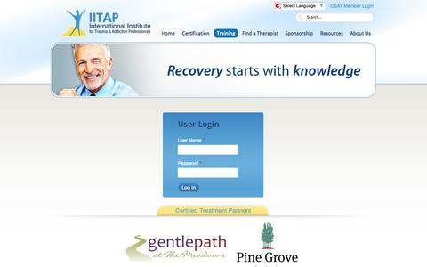 Screenshot of Login Page iitap.com - Login - captured Oct. 6, 2014