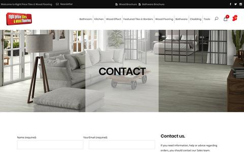 Screenshot of Contact Page rightpricetiles.ie - Contact - Right Price Tiles - captured Oct. 7, 2018