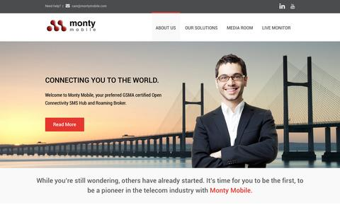 """Screenshot of Home Page montymobile.com - Monty Mobile 