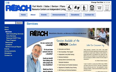 Screenshot of Services Page reachcils.org - Services | REACH, Inc. - captured Oct. 19, 2018