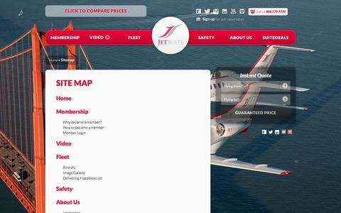 Screenshot of Site Map Page jetsuite.com - Sitemap | JetSuite - captured Dec. 1, 2015