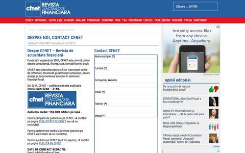 Screenshot of Contact Page codfiscal.net - Contact CodFiscal.net - captured Jan. 28, 2016