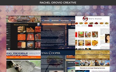 Screenshot of Home Page rachelorovio.com - Rachel Orovio Creative – Portfolio - captured Aug. 12, 2015