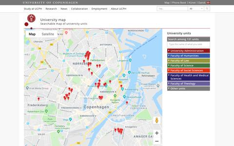 Screenshot of Maps & Directions Page ku.dk - University map – University of Copenhagen - captured Nov. 24, 2018