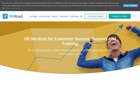 Screenshot of Services Page silkroad.com - HR Services | Talent Management & Onboarding Services | SilkRoad - captured Oct. 20, 2018