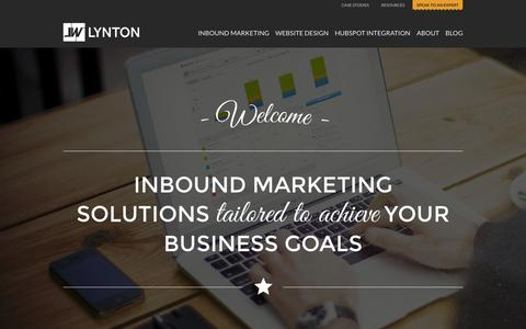 Screenshot of Home Page lyntonweb.com - LyntonWeb | Inbound Marketing Agency | Growth Driven Design - captured Oct. 1, 2015
