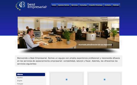 Screenshot of Home Page bestempresarial.com - Contable Laboral Fiscal   Asesoría Consultoría   Best Empresarial - captured Sept. 30, 2014