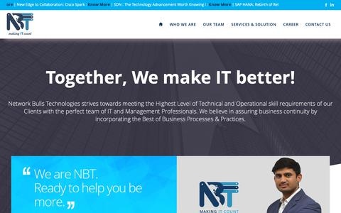 Screenshot of About Page networkbulls.org - About Network Bulls Technologies - captured Oct. 22, 2018