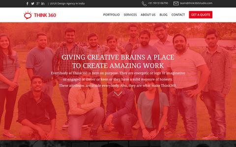 Screenshot of Team Page think360studio.com - Team - UI/UX Designer, SEO Experts, HTML5 / PHP Developers from India - captured Feb. 16, 2016