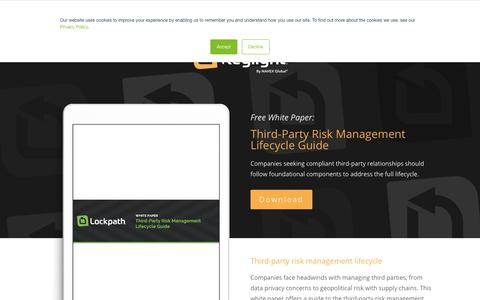 Screenshot of Team Page lockpath.com - Third-Party Risk Management Lifecycle Guide - Lockpath.com - captured Dec. 16, 2019