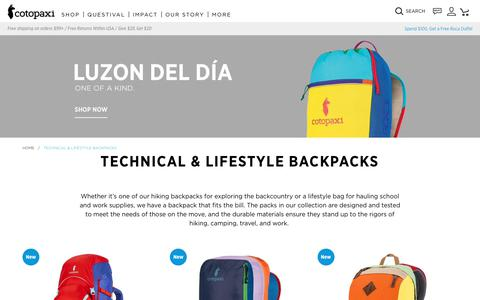 Shop Backpacks | Cotopaxi - Gear for Good