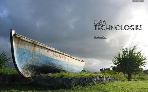 Screenshot of Home Page gba-tech.com - GBA Technologies - captured Oct. 6, 2014