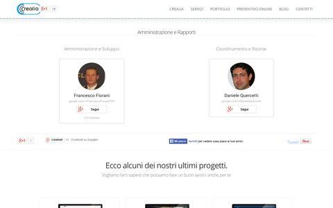 Screenshot of Team Page crealia.it - Team - captured Oct. 3, 2014