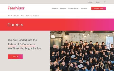 Screenshot of Jobs Page feedvisor.com - Careers – Feedvisor - captured Oct. 8, 2018