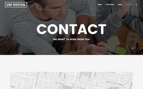 Screenshot of Contact Page umdesign.eu - UM Designe |   Contact - captured July 21, 2016