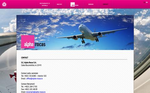 Screenshot of Contact Page alpha-rocas.ro - Contact - captured Oct. 3, 2014