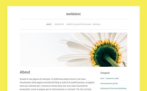 Screenshot of About Page wordpress.com - About – meldolesi - captured March 10, 2018
