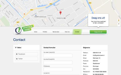 Screenshot of Contact Page grafischwerk.nl - Grafisch Werk Stadskanaal ~ - captured Feb. 8, 2017
