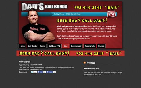 Screenshot of Blog dadslv.com - Blog - Website - captured Oct. 5, 2014