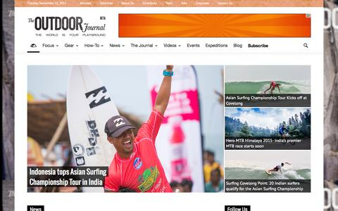 Screenshot of Home Page outdoorjournal.in - The Outdoor Journal | India's Only Adventure Magazine - captured Sept. 21, 2015
