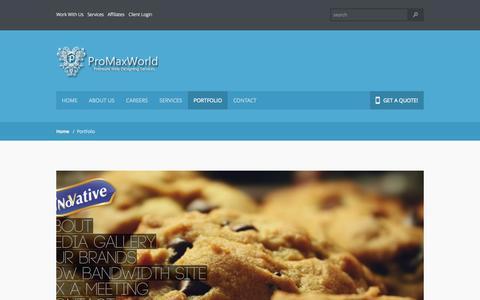 Screenshot of Case Studies Page promaxworld.com - Portfolio -  Web Designing, WebDevelopment, Graphics, Branding, SEO, ProMaxWorld - captured Oct. 3, 2014